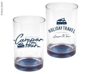 2 VERRES KEY WEST collection Holiday Travel 35CL SAN