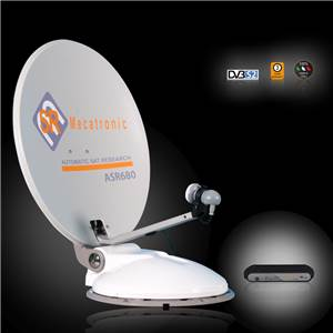 ANTENNE SATELLITE AUTOMATIQUE ASR680 68 cm-MONOSAT ASTRA 19°2/ATLANTICBIRD-DOUBLE DEMODULATEUR