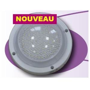 DOME 36 LED 1.7W Blanc chaud - 2 cables 12 Volts