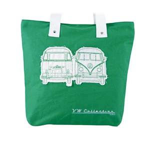 SAC SHOPPER CANVAS VW COLLECTION COLORIS VERT