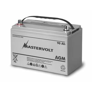 BATTERIE AGM 90Ah MASTERVOLT 330x173x212mm