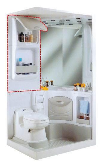 tag re de rangement avec porte pour bloc sanitaire 2000. Black Bedroom Furniture Sets. Home Design Ideas