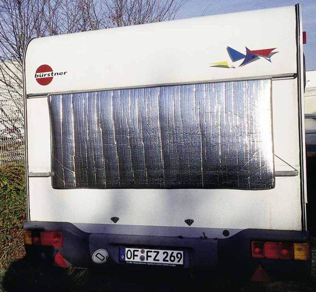 Pare soleil exterieur thermo reflex 74 x 110 cm for Store interieur pour caravane