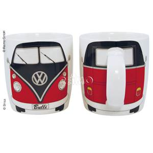 TASSE MUG VW COLLECTION DECOR BULLI ROUGE ET NOIR