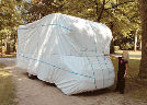 PROTECTION TOTALE HIVERNAGE TYVEK CAMPING CAR-Blanc-H315 l235 L685 cm
