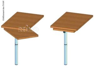 PIED TABLE A PLATINE ROTATIVE 701cm