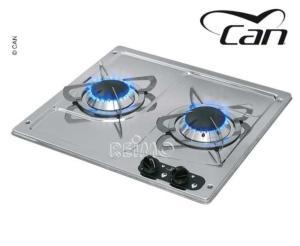 plaque gaz 2 feux encastrable can pc1322 380x360mm. Black Bedroom Furniture Sets. Home Design Ideas