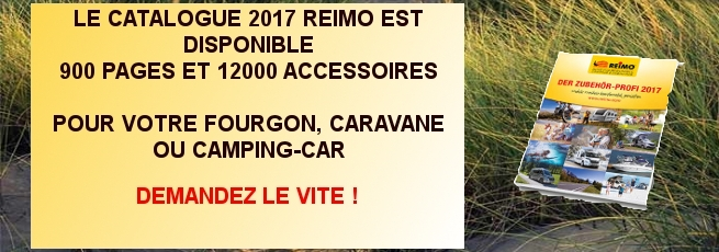 reimo catalogue d 39 accessoires et am nagement camping car fourgon. Black Bedroom Furniture Sets. Home Design Ideas