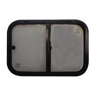 fenetre coulissante verre securit noire 800 x 400 mm. Black Bedroom Furniture Sets. Home Design Ideas