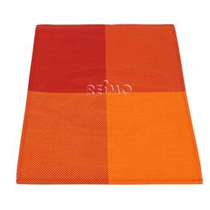 LOT DE 2 SETS DE TABLE EN PVC COLORIS ORANGE / ROUGE