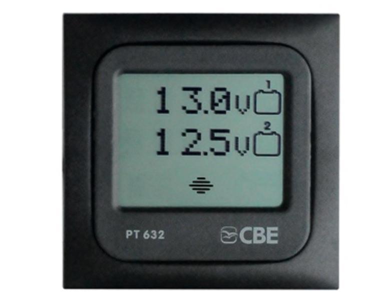 panneau numerique test 2 batteries gris cbe pt632. Black Bedroom Furniture Sets. Home Design Ideas