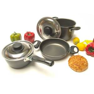 CASSEROLES POPOTE ALU TEFLON 6 PIECES