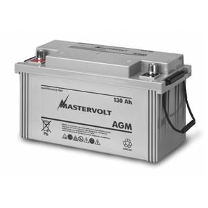 BATTERIE AGM 130Ah MASTERVOLT 410x177x225mm