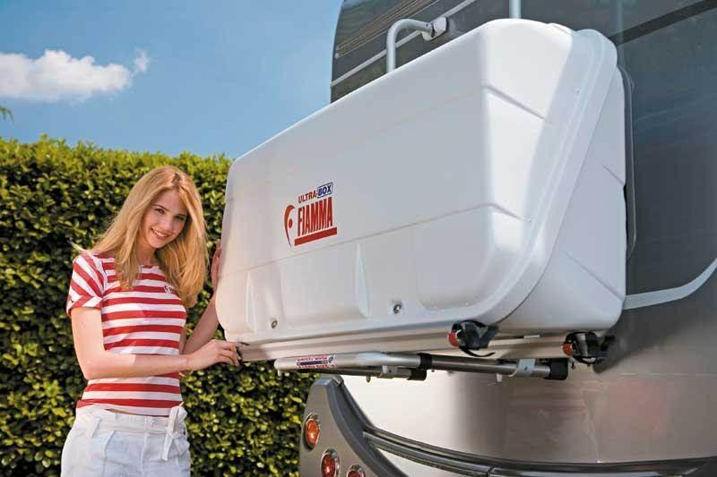 Coffre pour porte velo fiamma ultra box 320 litres - Porte velo electrique pour camping car ...