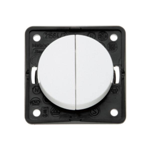 interrupteur a bascule double berker integro blanc. Black Bedroom Furniture Sets. Home Design Ideas