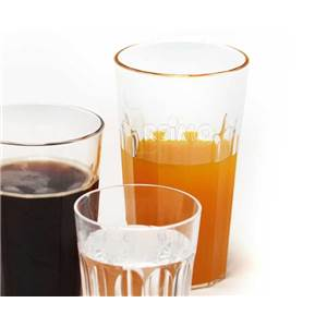 LOT DE 2 GRANDS VERRES A JUS DE FRUIT POLYCARBONATE 0.63L