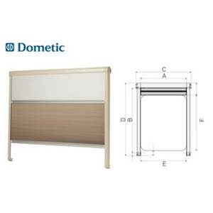 STORE DOUBLE CASSETTE SOFTOLLO SEITZ opale 1100x745mm
