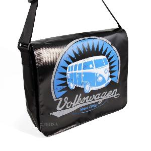 SAC MESSAGER VW T1 BUS - LOGO VINTAGE / NOIR - VW collection