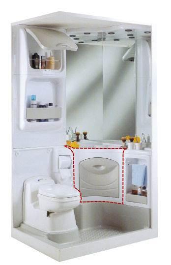 Meuble sous evier pour bloc sanitaire 2000 for Meuble sanitaire