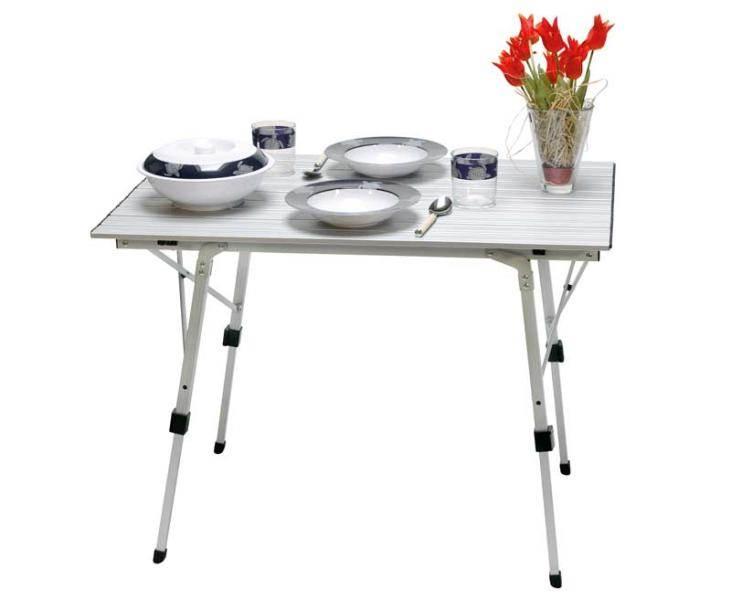 Table alu enroulable bali 90 x 60 cm for Table cuisine 90 x 60