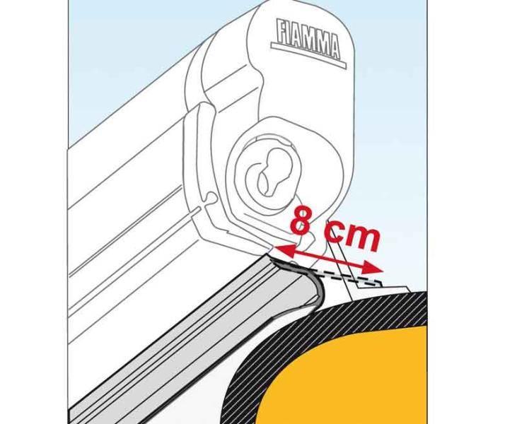 joint anti pluie fiamma rain guard lower pour f45s largeur 8cm au m tre. Black Bedroom Furniture Sets. Home Design Ideas