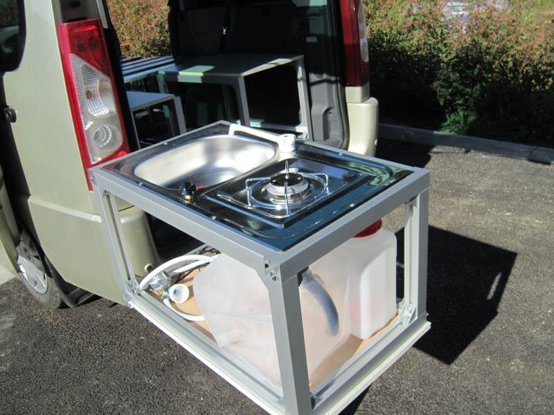 Kitchenette transportable tous v hicules for Meuble cuisine camping car