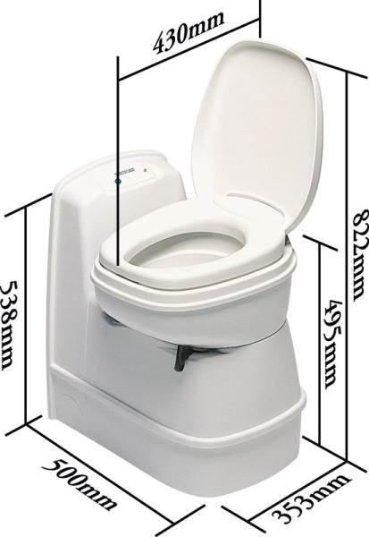 toilette encastre a cassette thetford c 200 cs. Black Bedroom Furniture Sets. Home Design Ideas