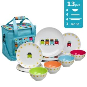 SAC PICNIC CAMPER SMILE 12 PIECES