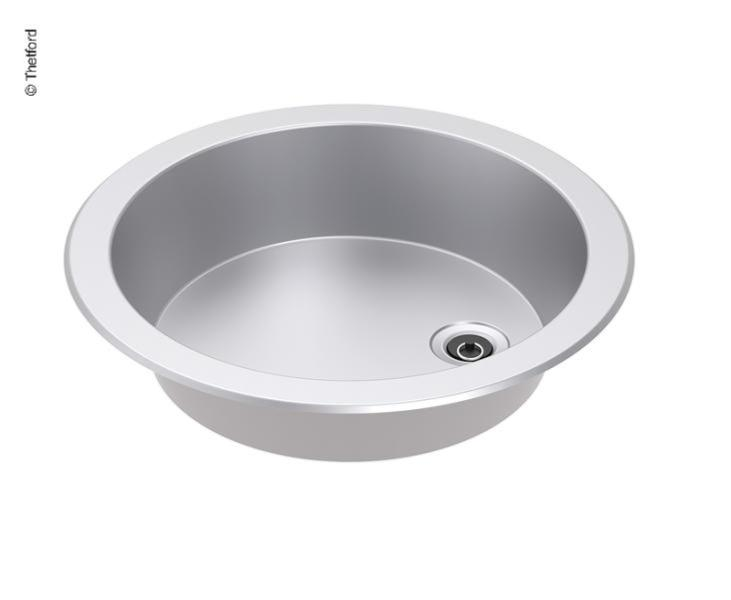 Evier Rond Inox Theford Basic Line 23 O 461 X 127 Mm