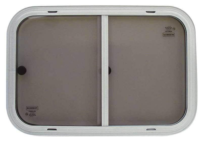 fenetre coulissante verre securit blanche 700 x 350 mm