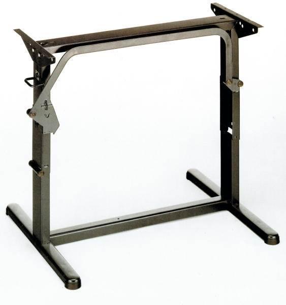 Pied de table 2 positions 750mm brun for Pied de table ikea reglable
