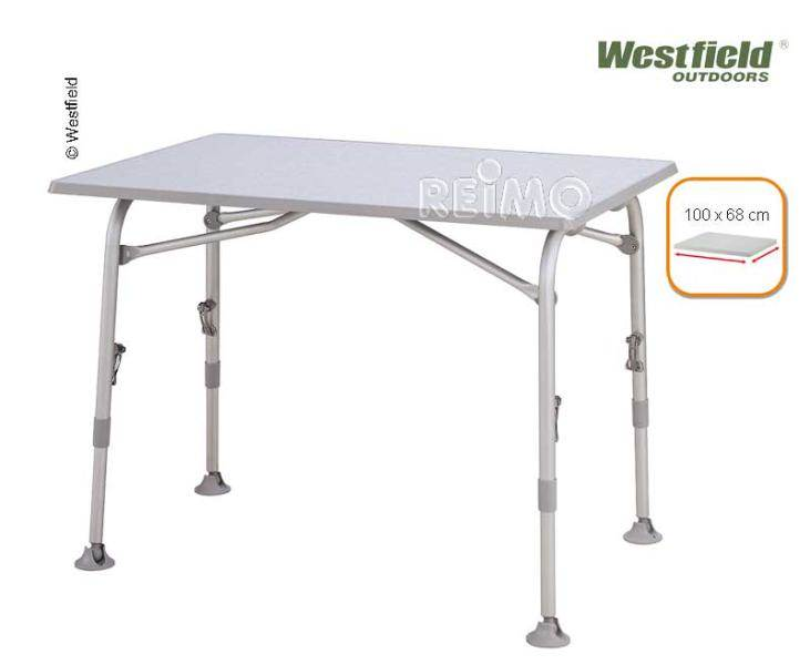 Table de camping campico superb 100 westfield 100x68cm for Table westfield