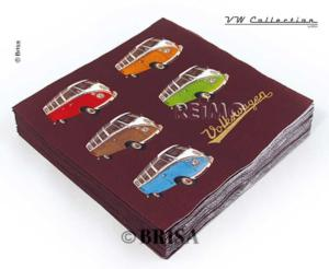 SERVIETTES COLORED SAMBA VW COLLECTION 20 PIECES