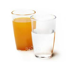 LOT DE 2 VERRES A JUS DE FRUIT 0.3 L
