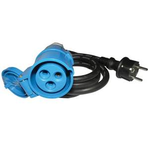 CABLE ADAPTATEUR SCHUKO MALE / CEE FEMELLE