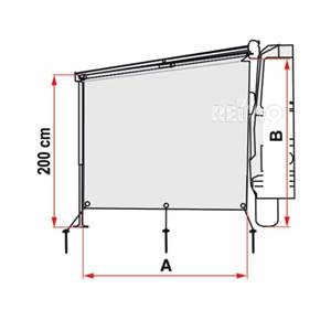 SUN VIEW SIDE pour F45 Fiamma H220-260CM