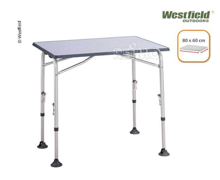 Table de camping smart 80 ligth alu westfield 80x60cm for Table westfield
