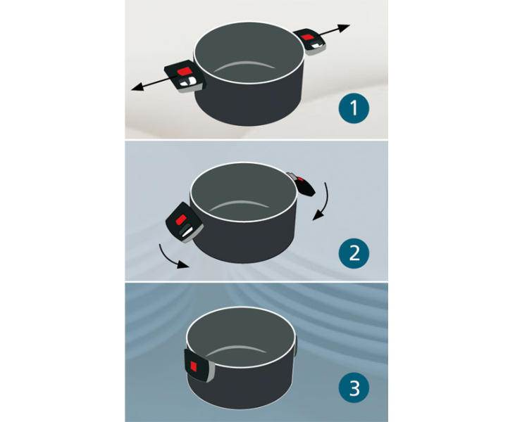 casserole anti adhesive a poignees repliable 16 cm. Black Bedroom Furniture Sets. Home Design Ideas