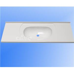 LAVABO ENCASTRABLE ET RECOUPABLE BLANC EN ABS 895 x 315 x 130 MM