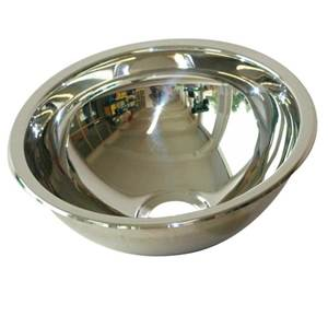 LAVABO ENCASTRABLE ROND EN INOX DIAM. 300 MM
