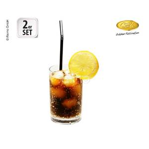 LOT DE 2 VERRES A JUS DE FRUITS ESTELLA - 350ml