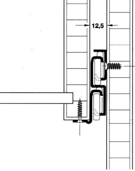coulisses a galets sortie totale 400mm. Black Bedroom Furniture Sets. Home Design Ideas