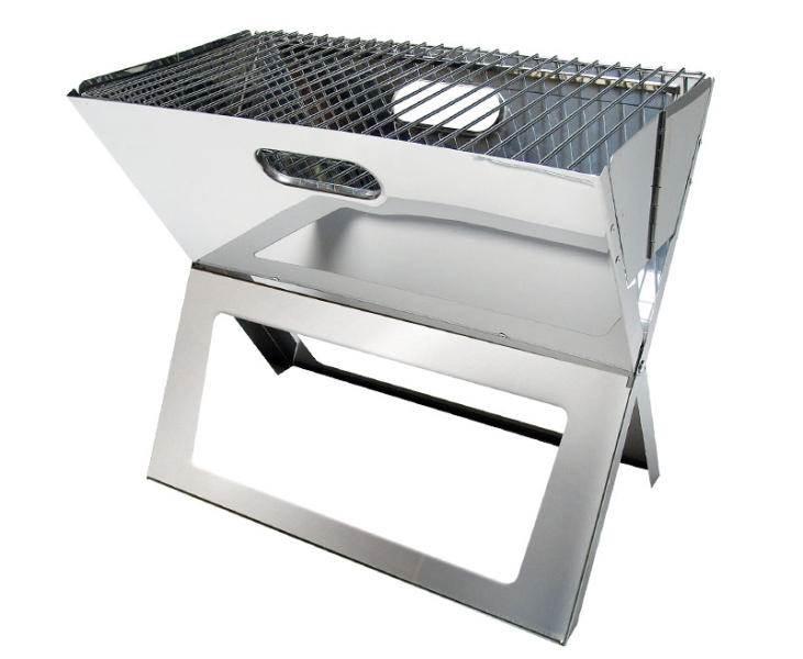 mini barbecue acier charbon de bois pliant tom. Black Bedroom Furniture Sets. Home Design Ideas