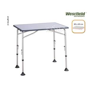 TABLE DE CAMPING SMART 80 LIGTH ALU WESTFIELD 80x60CM