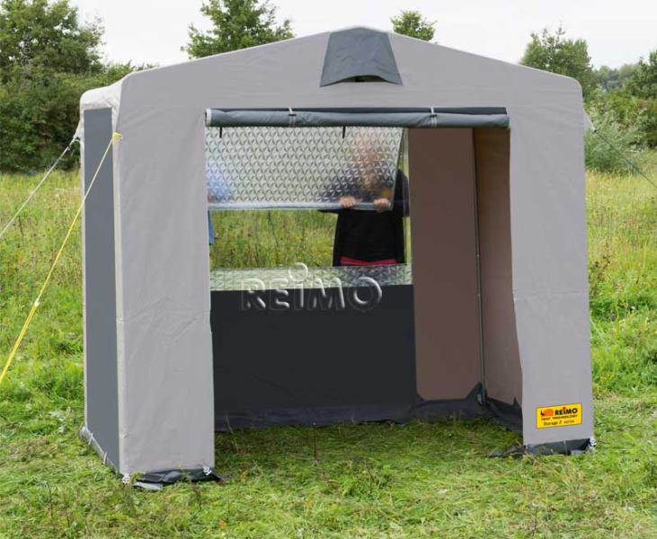 Tente multifonction storage 3 225x150cm for Tente cuisine camping