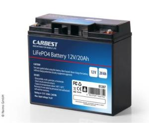 BATTERIE 12V LITHIUM CARBEST 20Ah LiFePO4