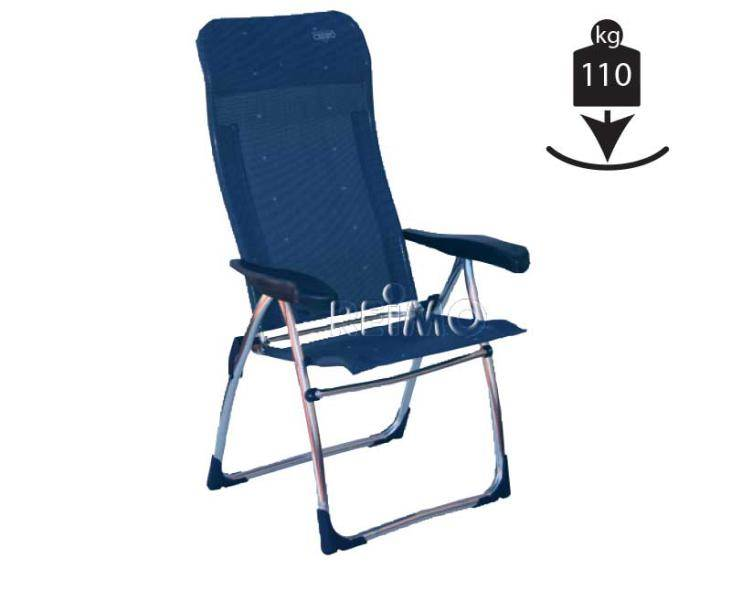 Chaise de camping crespo bleue for Chaise de camping
