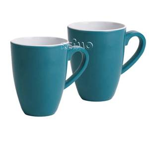 LOTS DE 2 MUGS BLEU PETROLE 400ML