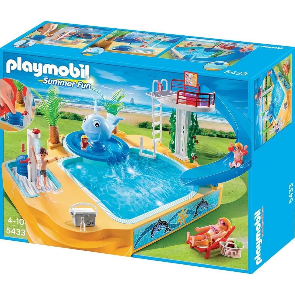 Playmobil famille avec piscine et plongeoir for Playmobil piscine avec terrasse