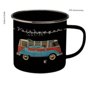 TASSE A CAFE EMAILLEE NOIRE - VW COLLECTION